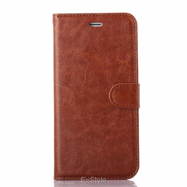 5.5″ Plus Crazy Horse Skin Retro PU Leather Case For Iphone 6S Plus Flip Cover Mobile Phone Bag FOR IPHONE 6 PLUS Phone Cases