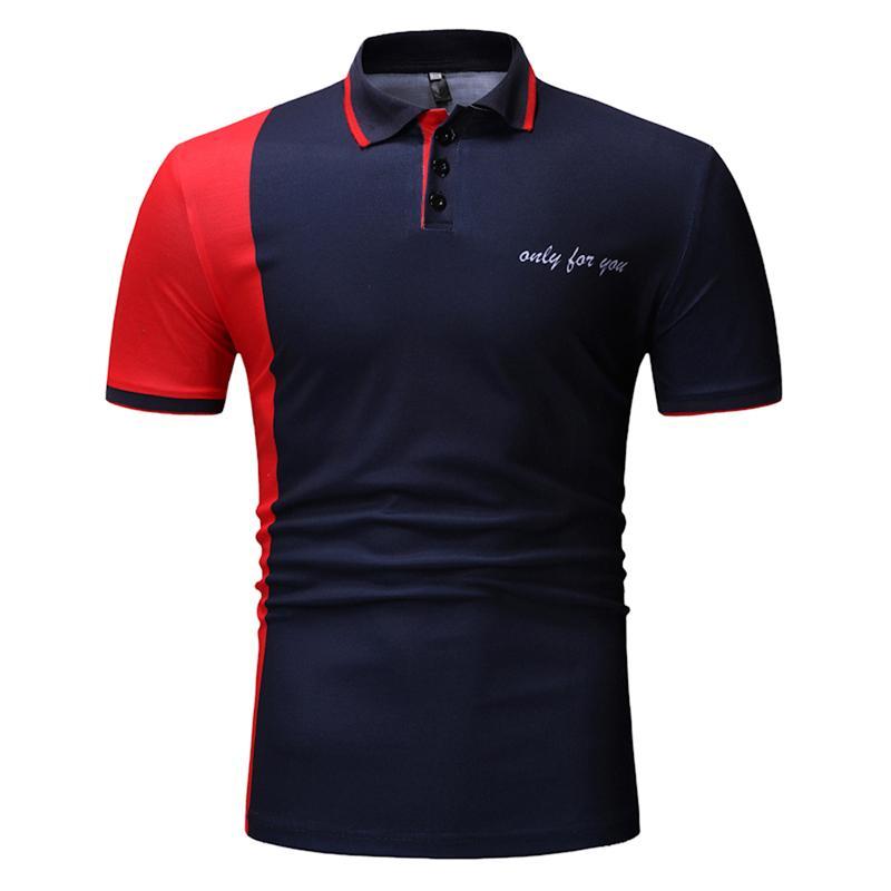 Men's Clothing   Polo   Shirt Men Tops Tees Beach leisure Short sleeve Men   Polo   Shirt Business Casual Summer Navy Black New