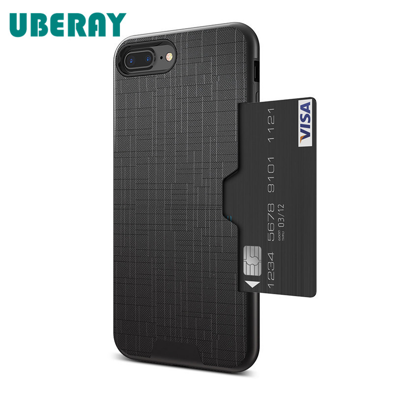 UBERAY Card Slot Phone Case For iPhone 7 Luxury Wallet Mobile Accessories For iPhone 8 6 6s 7 Plus Cases For iPhone X XS MAX XR