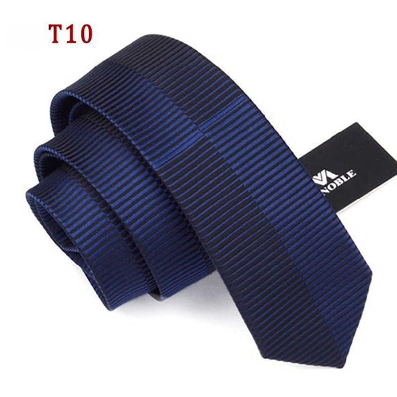 En Kaliteli Bağları Erkekler Için Ipek 6 cm Ince Kravat Erkek Moda Evlilik Sıska Kravat Dar Marka Şerit Kravat Siyah en çok satan