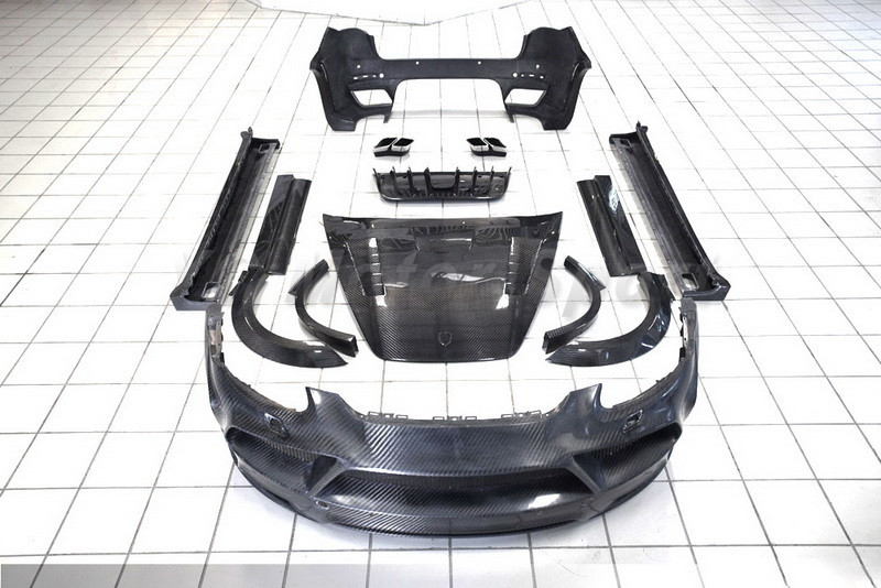 Автомобиль Интимные аксессуары полный углерода Волокно Средства ухода за кожей Комплект 29 шт. подходит для 2011 2014 958 MS Стиль Aero Запчасти бамп