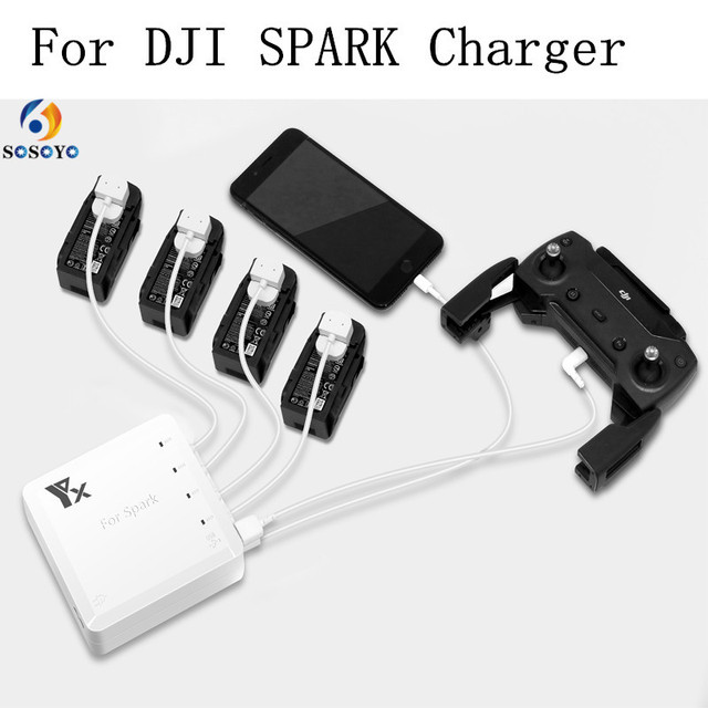 Зарядка от usb для dji spark светофильтр nd64 к коптеру phantom