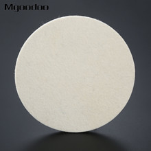 1Pc 7 Inch 180mm Round Plush Wool Polishing Wheel Disk Sheets Pads Car Buffing Wax For Cleaning Metals Glass