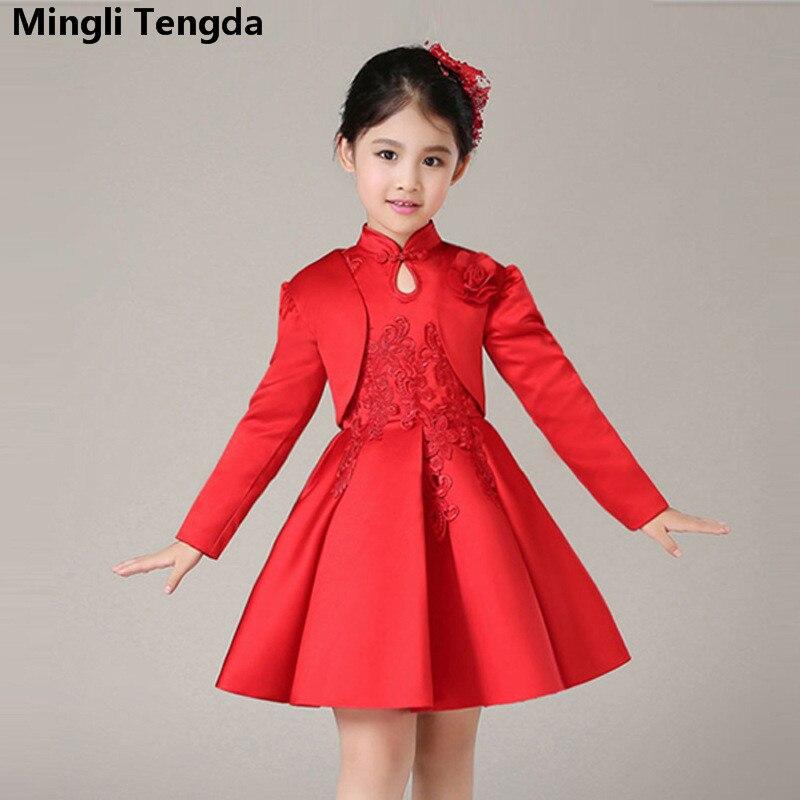 Two Pieces Short   Dress   for   Girl   Red   Flower     Girl     Dresses   for Wedding Lace Elegant   Flower     Girl     Dress     Flower     Dresses   Mingli Tengda