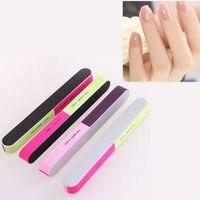 2PCS NEW HOT Random Color!! Nail Art Manicure 4 Way Shiner Buffer Buffing Block Sanding Files Beauty Health Nail Art Accessories