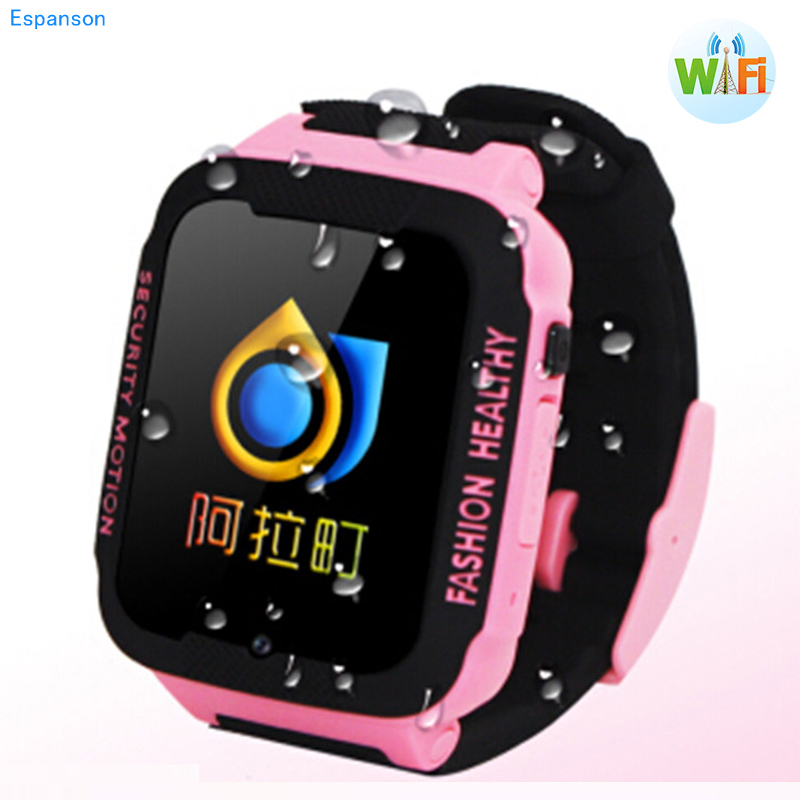 New Espanson Children Smart Watch With SIM Card Camera GPS Facebook SOS Security Anti Lost wifi Bluetooth waterproof baby Watch espanson children security anti lost smart watch gps tracker with camera kid sos emergency for ios android waterproof baby watch