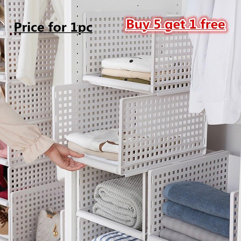 Image 3 - wardrobe partition board rack, drawer type clothes storage box, bedroom cabinet, interlayer wardrobe, storage rack.-in Storage Holders & Racks from Home & Garden