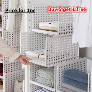 Image 3 - wardrobe partition board rack, drawer type clothes storage box, bedroom cabinet, interlayer wardrobe, storage rack.