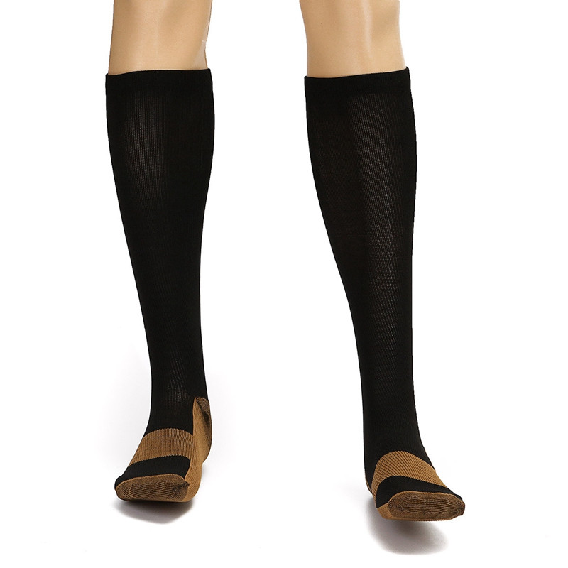 Modern Copper Anti-Fatigue Compression Socks Soothe Tired Achy Unisex Knee High Stocking Foot Pain Compression Support Socks