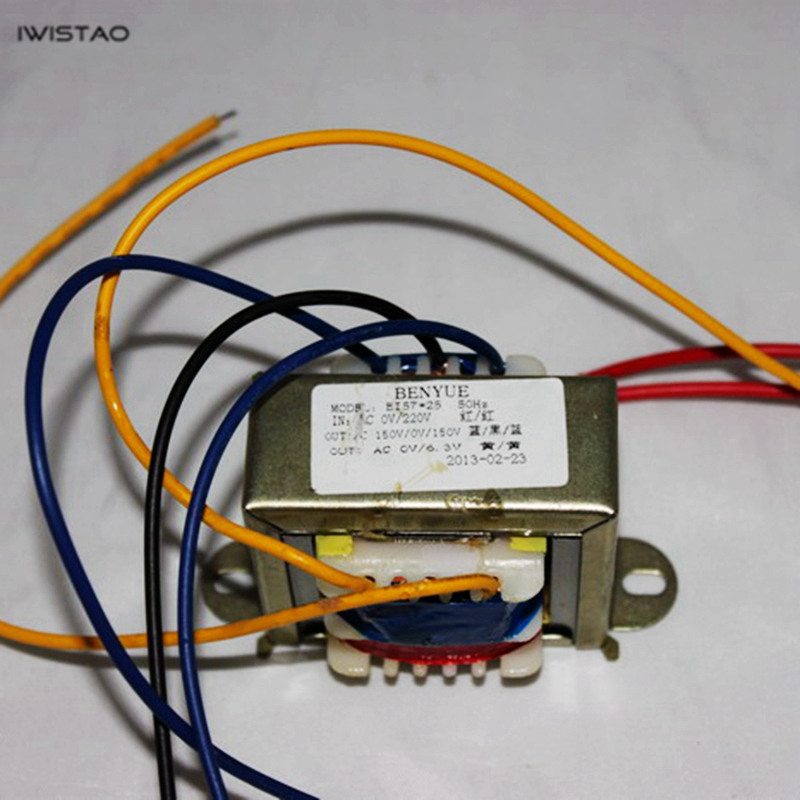 IWISTAO 15W Power Transformer EI for <font><b>Tube</b></font> <font><b>Preamplifier</b></font> 150V/20ma 6.5V/1A Audio HIFI DIY image