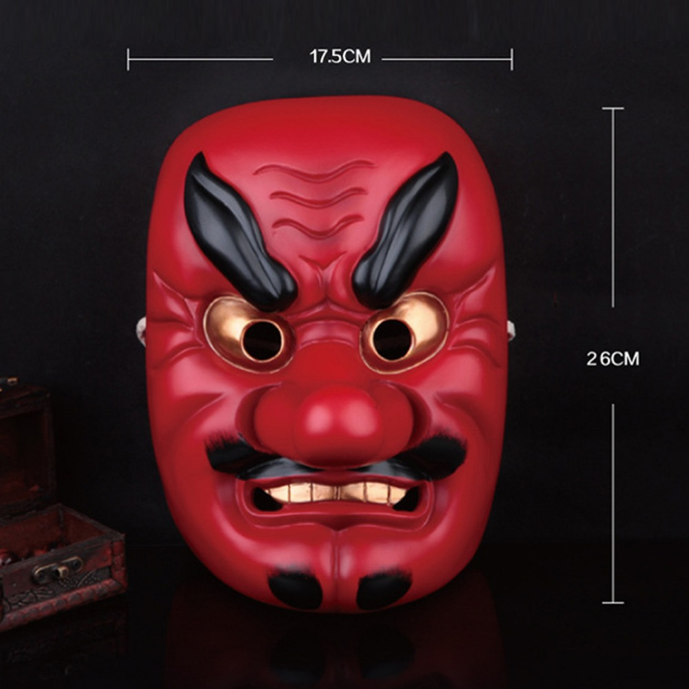 Hot Sale Popular 100 Resin Movie Japanese Noh Tengu Mask Red Long Nose Mask Buddhist Prajna
