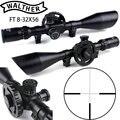 WALTHER FT 8-32X56 охотничьи Riflescopes Mil Dot сетка большое боковое колесо Parallax Регулировка область съемки с кольцами ласточкин хвост