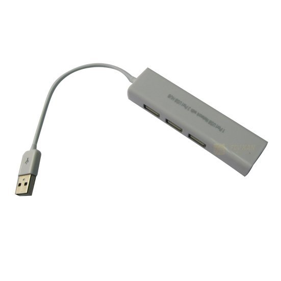 Free Shipping10/100Mbps RJ45 Ethernet USB 2.0 3 Port HUB and  Network LAN Adapter Card CU002