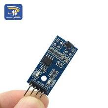Módulo de sensores de hall 3144e, 4 pinos de interruptor magnético, módulo de sensor de contagem de velocidade para arduino smart car