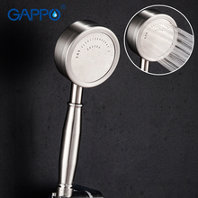 GAPPO Shower Head Sprayer Hand Hold Stainless Steel SPA Pressurize Rainfall Bathroom Water Saving