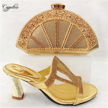 Elegant lady high heel sandal shoes and purse bag set nice m
