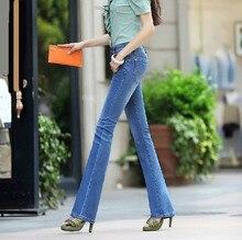 Новый 2014 хлопок крошечный flare брюки джинсы женские Джинсовые брюки Популярные Мода slim fit джинсы женщина