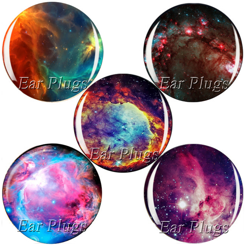 60pcs/lot nebula series plug gauge acrylic screw ear plug flesh tunnel piercing body jewelry 6mm-25mm MP008