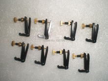 64 PCs Violin Fine tuner black and gold color violin string adjuster 3/4 to 4/4