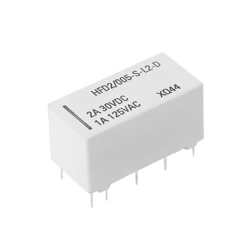 Top Quality 12V Coil Bistable Latching Relay DPDT 2A 30VDC 1A 125VAC HFD2/005-S-L2-D Realy Oct26-A