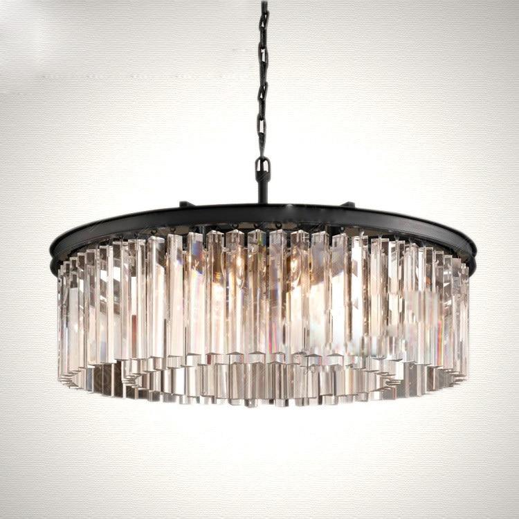 bar cocina moderna cristal claro luces pendientes lustres de cristal lamparas de techo comedor redonda colgando