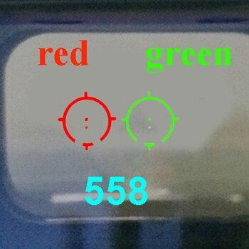 LUGER taktik 558 kolimatör holografik kırmızı yeşil nokta optik Sight tüfek kapsam 20mm ray Mounts avcılık Airsoft tabancası kapsamları