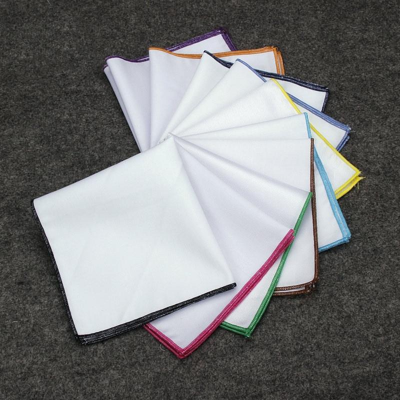 New Style 8 Pcs/Set 25*25cm Solid Color Cotton Fabric Lace Cloth Napkin Wedding Dining Table Napkins Mat Cloth Decoration