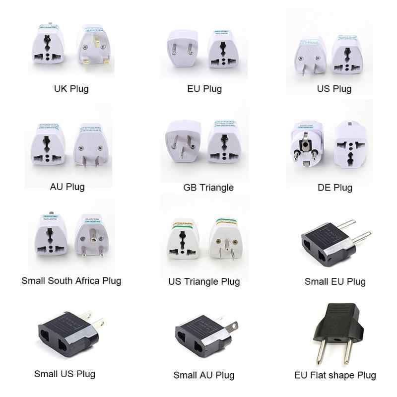 1 Pcs Universal UK US AU untuk Uni Eropa AC Power Socket Plug Travel Charger Adapter Converter