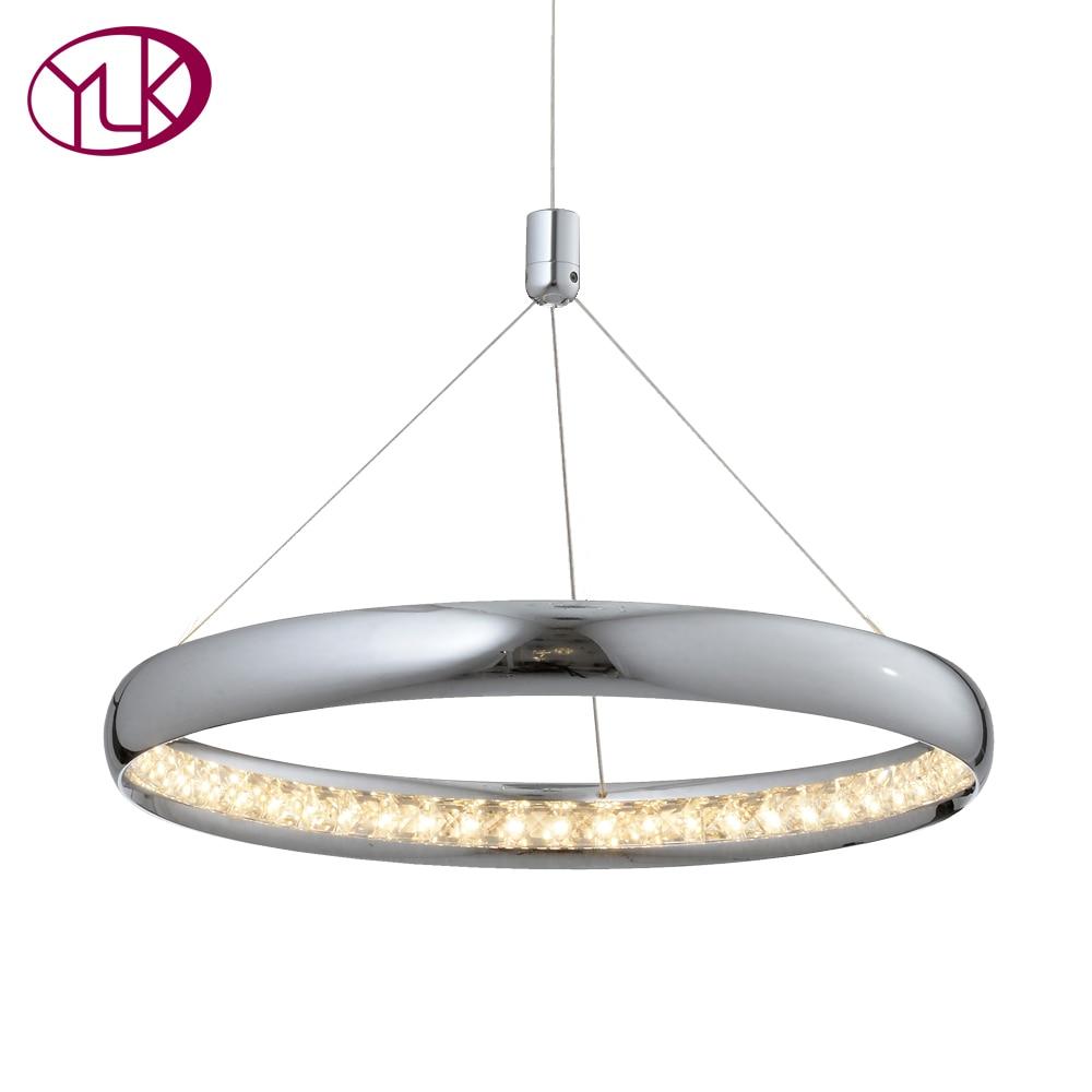 Youlaike Современные хрустальные люстры для Обеденная один светильник подвесной светодиодный Кристалл лампы украшения дома люстры де Cristal