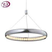 Youlaike Modern Crystal Chandelier For Dining Room Single Light Hanging LED Crystal Lamp Home Decoration Lustres