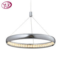 Youlaike Modern Crystal Chandelier For Dining Room Single Light Hanging LED Crystal Lamp Home Decoration Lustres