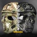 Новый Хэллоуин маска для вечеринки игры Череп Fit Быстрый Шлем тактический Пейнтбол Страйкбол Маска Военная Cs Защитная маска