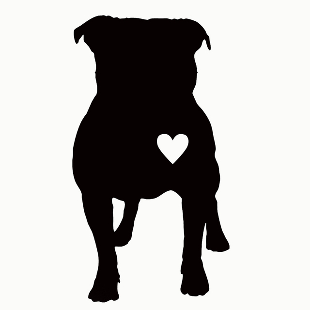 US $0 71 74% OFF|Hot Sale Cute Pitbull Heart Puppy Car Sticker For Truck  Window Bumper Auto Door Laptop Kayak Vinyl Decal 9 Colors-in Car Stickers