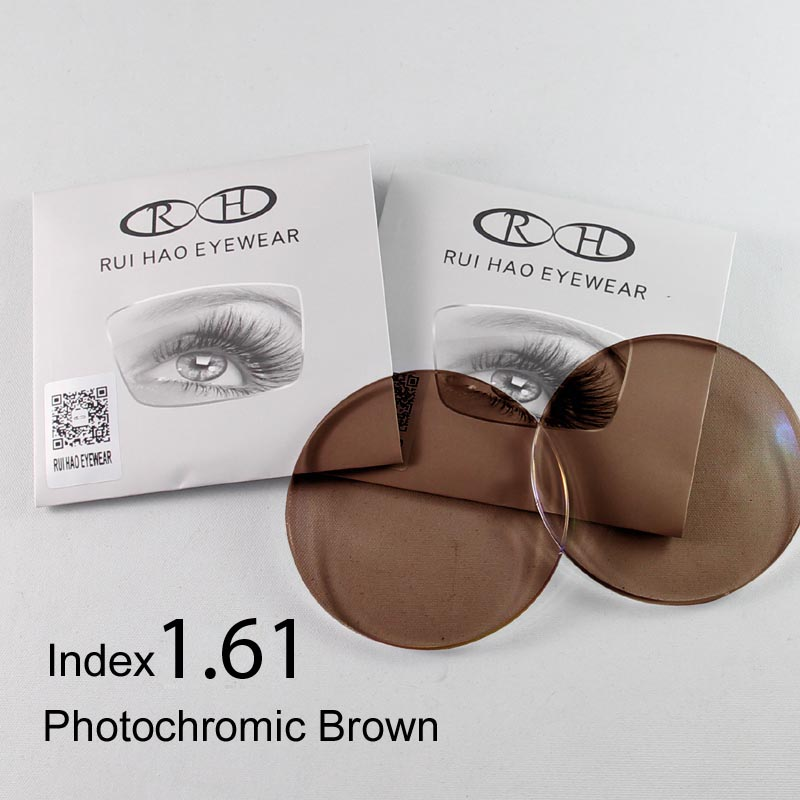 Rui Hao Eyewear Brand 1 61 Lenses 2PCS Photochromic Lens Optical Prescription lenses Aspheric Ultra thin