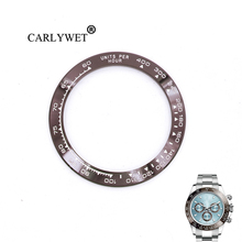 CARLYWET Wholesale High Quality Ceramic Brown with White Writing 38.6mm Watch Bezel for DAYTONA 116500 - 116520