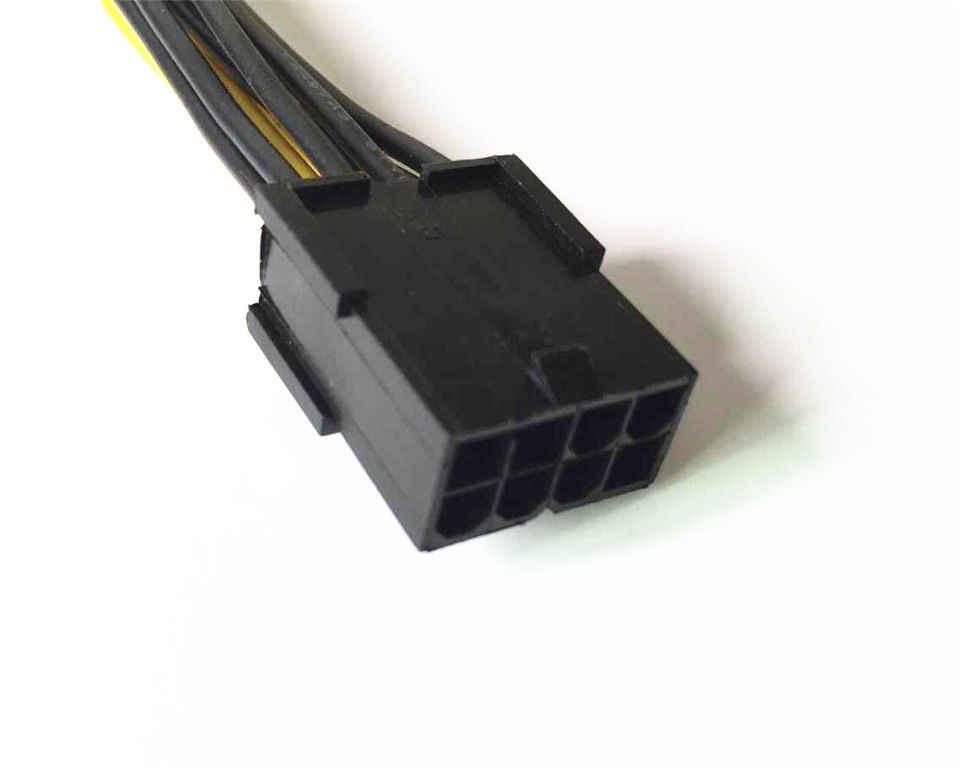 """10 יח'\חבילה משלוח חינם באיכות גבוהה 8 פינים GPU כדי PCI-E 8 (6 + 2) פין ספליטר 18AWG כבל חשמל extention 20 ס""""מ"""