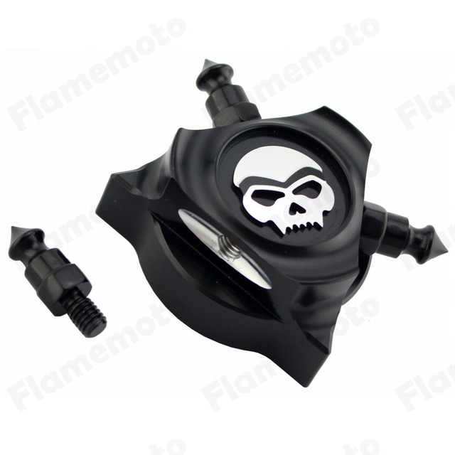 Motorcycle Skull Zombie CNC Oil Filler Cap Cover For Harley Touring Road King FLHT Electra Street Glide FLHX