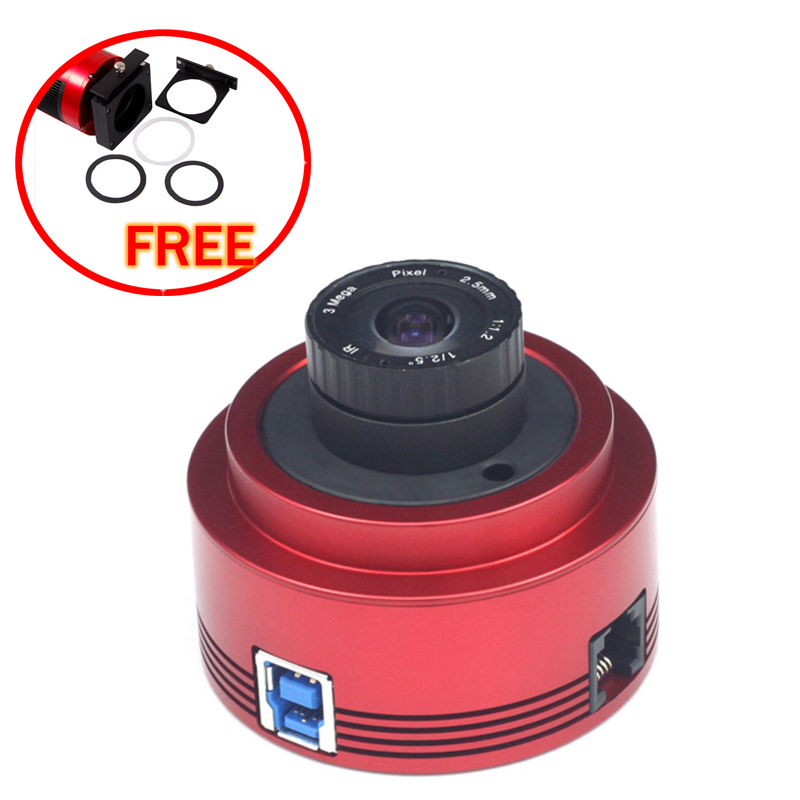 ZWO ASI178MC (color) USB3.0  ASTRONOMY CAMERA with free a set of 2  filter drawer an atlas of astronomy