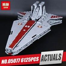 Lepin 05077 6125 Unids Nueva Serie La UCS Rupblic Conjunto Estrella modelo destructor Crucero ST04 Bloques de Construcción de Ladrillos de Juguetes para los niños regalos