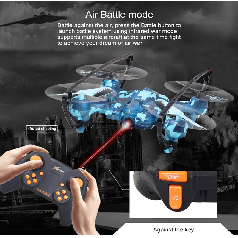Attop A16 Mini RC Drone Professional Air Battle Mode RC Aircraft RC Drone 6-Axis Remote Control Helicopter Quadcopter Boys Toys все цены