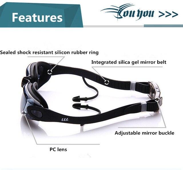 Фото спортивные очки для взрослых профессиональная близорукость плавания