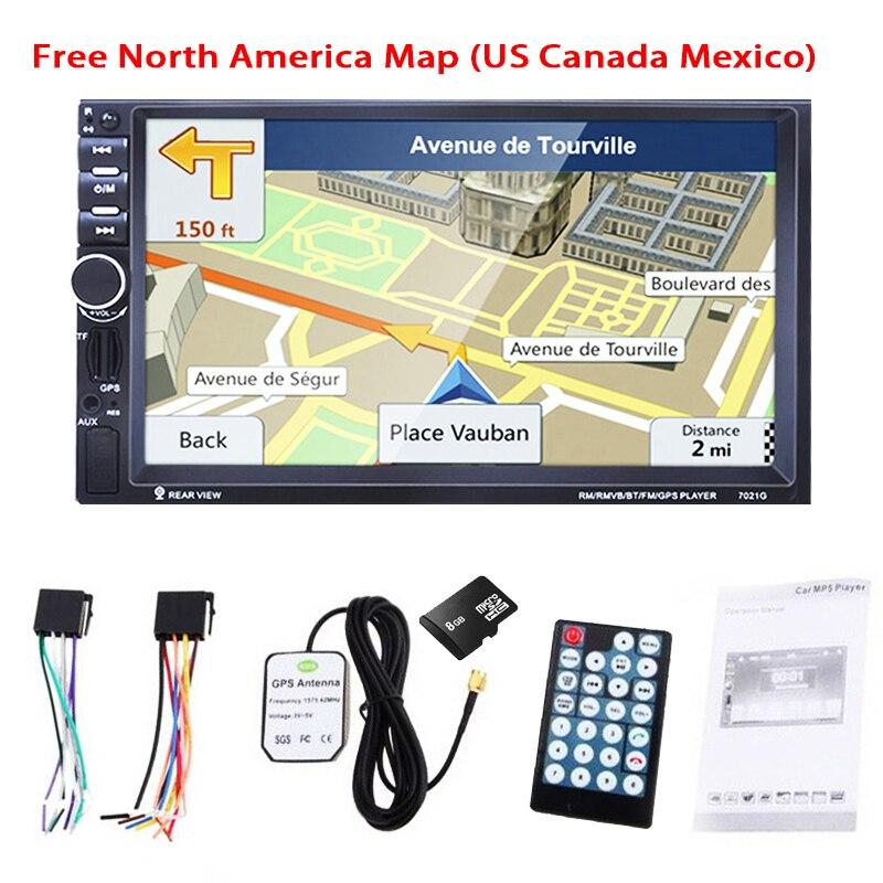 7 Inch HD 2DIN Car GPS Navigation MP3 Player Car Bluetooth Stereo FM Radio