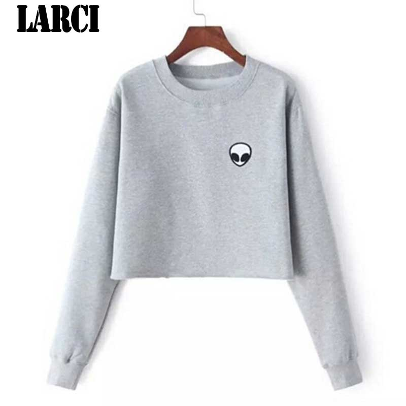 LARCI Folding 2018 Hot Sell Women Hoodies Casual Hoodies Coat Outfit Tops O-Neck Sombrero camisa Wei Sweatshirts E5299#