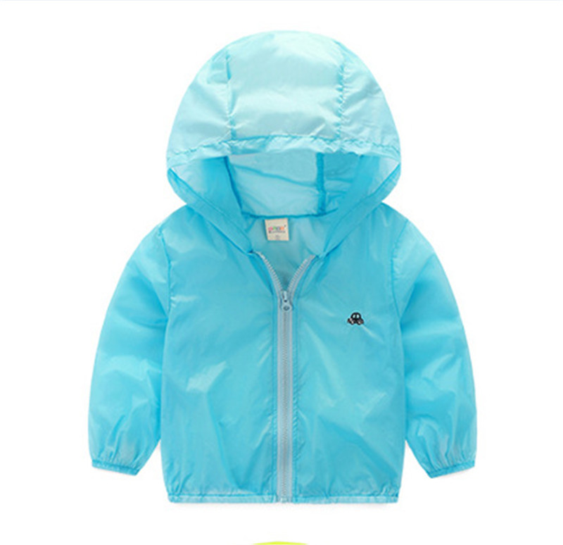 2016 весна осень детская Солнцезащитная одежда пальто с длинными рукавами для маленьких мальчиков и девочек с капюшоном спортивная одежда де...