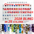 Mezclar 25 Colores Flatback Strass Perlas Rhinestones del Cristal del Hotfix ss4-ss30 Mezclado Plata Piedras De Cristal Para Uñas Decoración Del Teléfono