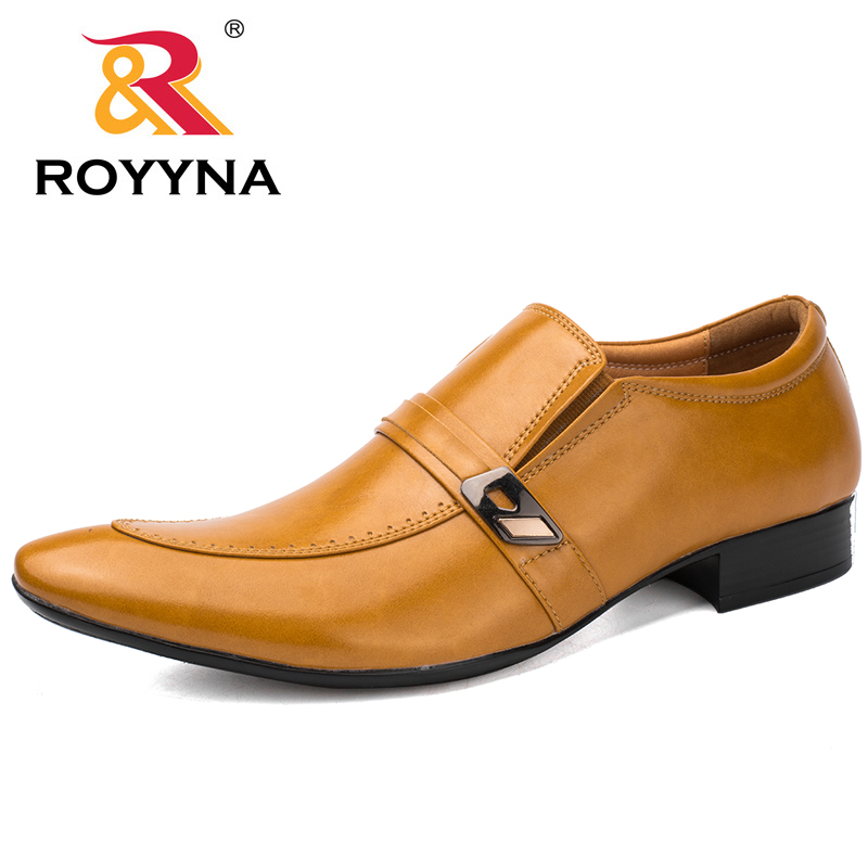 ROYYNA New Arrival Popular Style Men Formal Shoes Pointed Toe Elastic Band Men Loafers Comfortable Light