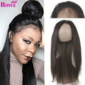 Brazilian Virgin Hair Straight 360 lace frontal with bundle One PieceBrazilian Straight Hair With Closure Unprocessed Human Hair