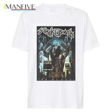 19ss fashion t shirt  Men white T Shirt Black Cotton S 3Xl Streetwear harajuku Print funny shirts men