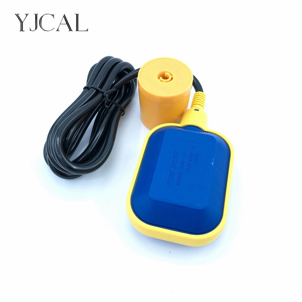 Float Switch 220V Water Level Automatic Pump Control Sensor Plastic Ball Valve For Tower Tank Liquid Fluid Wire Length 2M China mj uqk 6 mini submersible pump with float switch small flow high chemical resistance oil tank level switch liquid level sensor