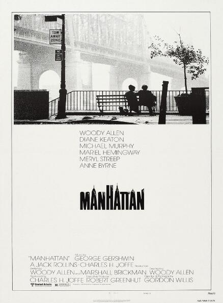 Manhattan Woody Allen Vintage Movie SILK POSTER Decorative Wall painting 24x36inch image